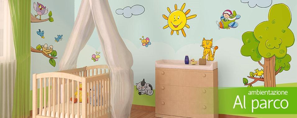 Decorazioni muri camerette bambini bimbi fantasia - Decorazioni camerette ...